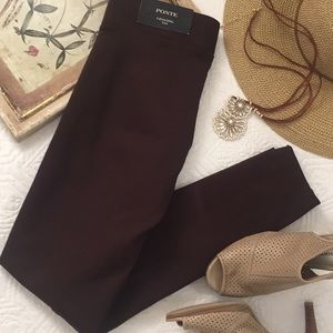NWT Ann Taylor brown ponte leggings